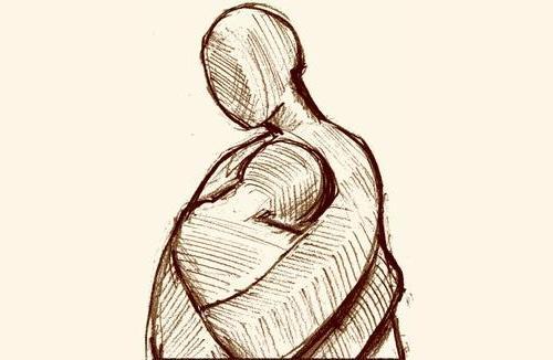 Die Grafik 'Die Tröstende' ist von Oliver Nischwitz, www.holzbildhauer-nischwitz.de