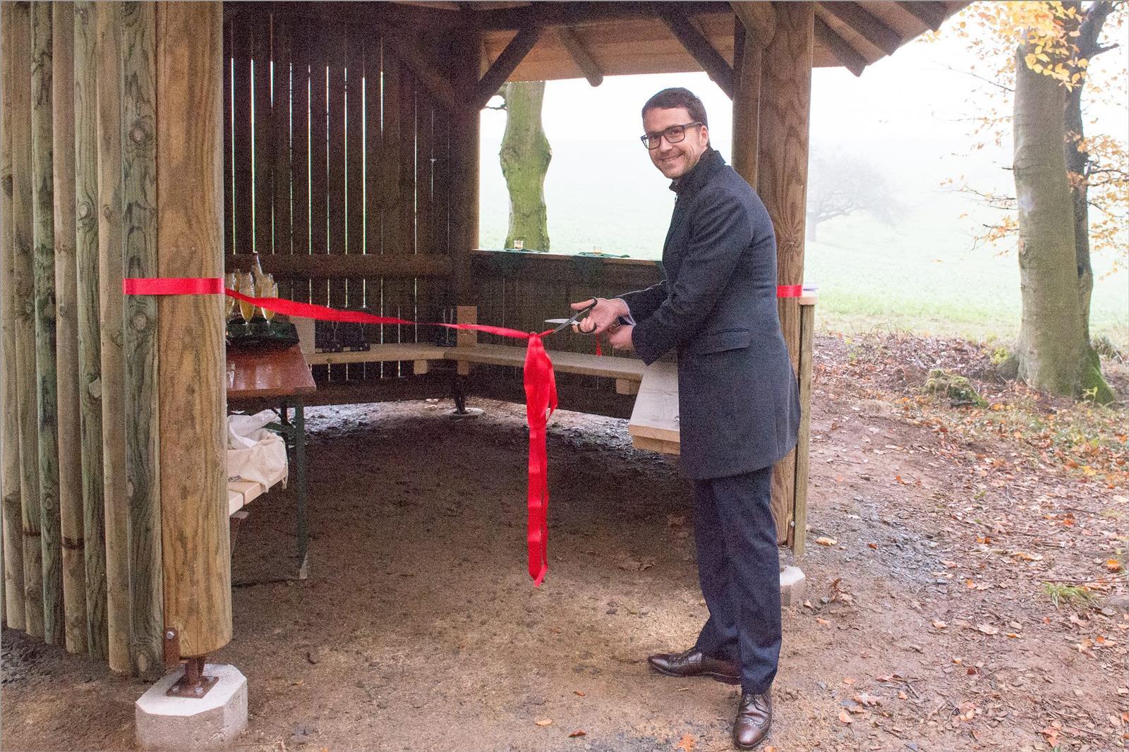Einweihung der Schutzhütte am Bestattungswald 12 Aposten bei Nonrod - Foto Bernd Dörwald