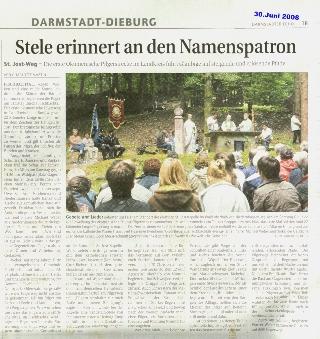 Bericht im Darmstädter Echo vom 30.06.2008 (zum Vergrößern anklicken)