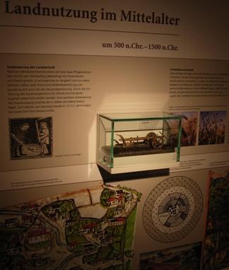 Geopark-Ausstellung zur 'Geschichte der Landnutzung in der Region' im Museum Schloss Lichtenberg - Pflug