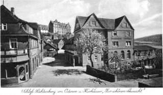 Postkarte: Schloß Lichtenberg im Odenw. und Kurhäuser